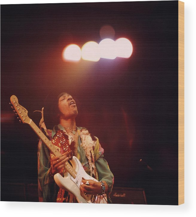 Music Wood Print featuring the photograph Photo Of Jimi Hendrix by David Redfern