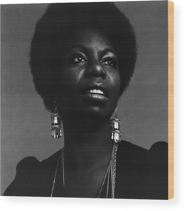 Singer Wood Print featuring the photograph Nina Simone by Jack Robinson