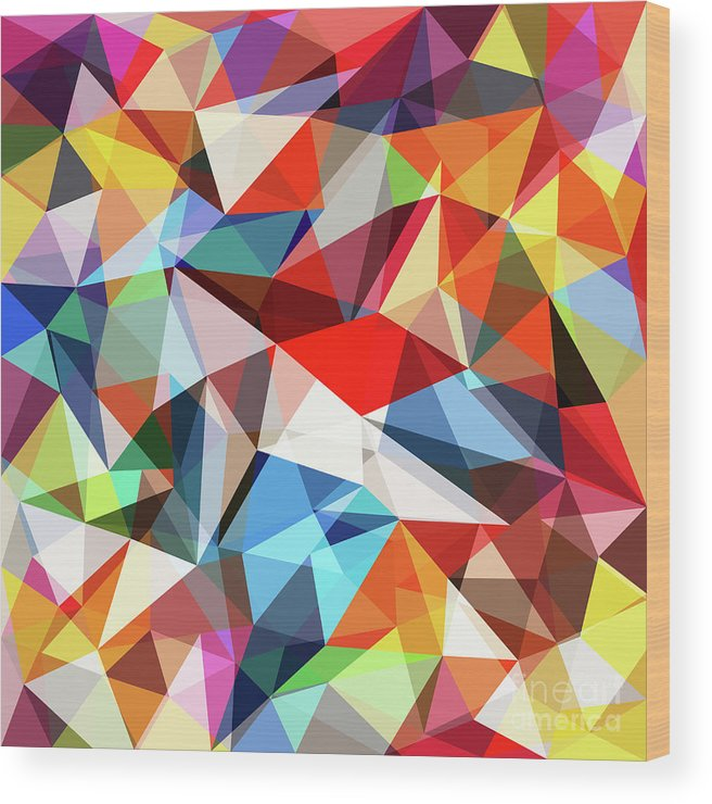 Art Wood Print featuring the digital art Abstract Colorful Geometrical Background by Natrot