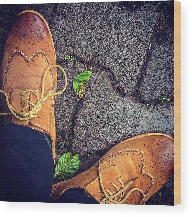 Shoes Wood Print featuring the photograph Afternoon delight by Mark Ddamulira