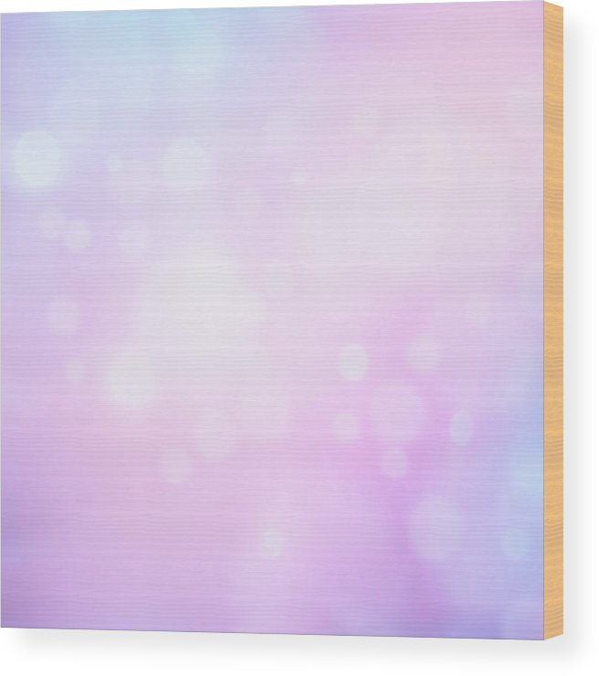 Holiday Wood Print featuring the photograph Glowing Blue And Pink Abstract by Jeja