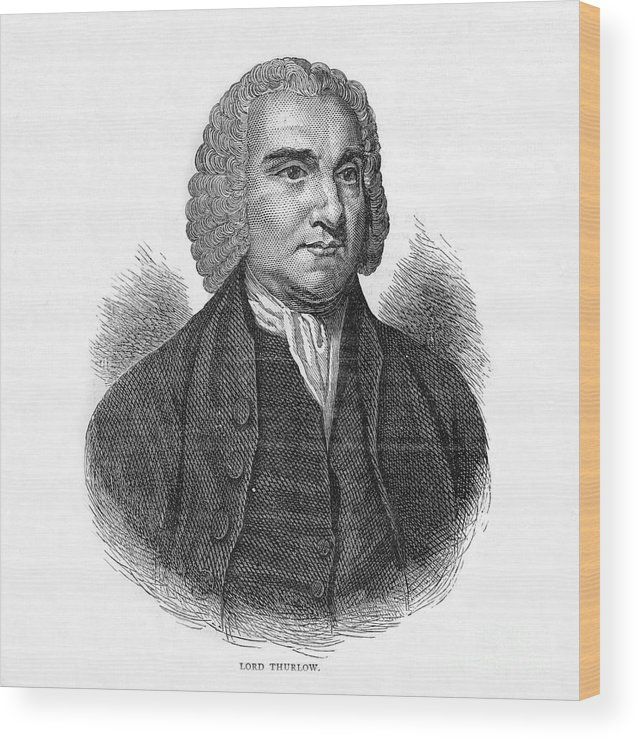 Engraving Wood Print featuring the drawing Lord Thurlow, British Lawyer And Tory by Print Collector