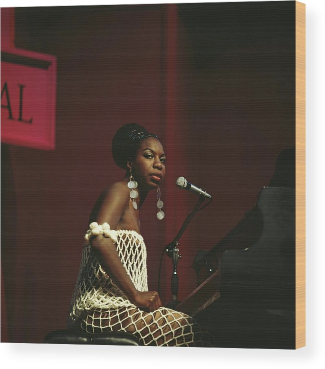 Nina Simone Wood Print featuring the photograph Nina Simone by David Redfern