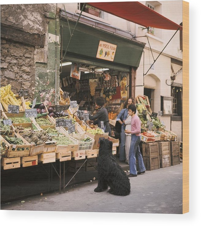 Paris Wood Print featuring the photograph Paris, Fruit And Vegetable Shop In The by Keystone-france