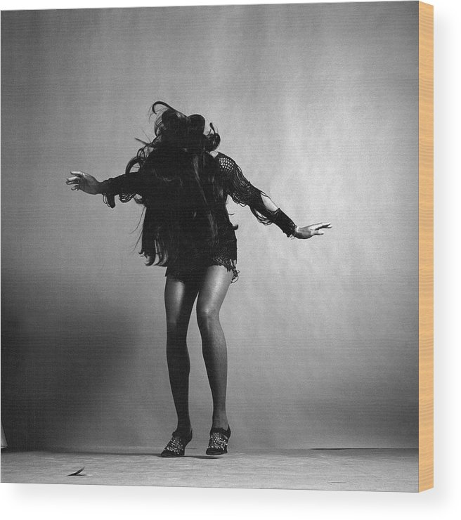 Singer Wood Print featuring the photograph Portrait Of Tina Turner by Jack Robinson