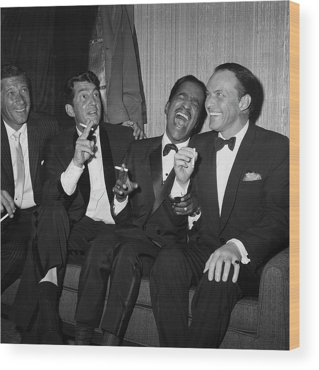 Charity Benefit Wood Print featuring the photograph Rat Pack At Carnegie Hall by Bettmann