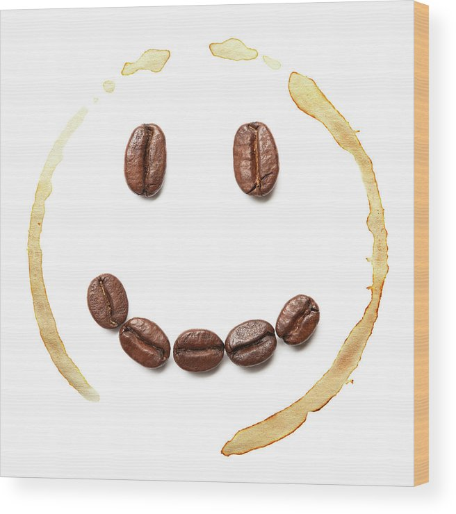 Spray Wood Print featuring the photograph Smile Coffee Beans by T kimura