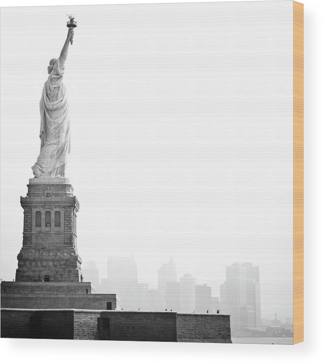 Statue Wood Print featuring the photograph Statue Of Liberty by Image - Natasha Maiolo