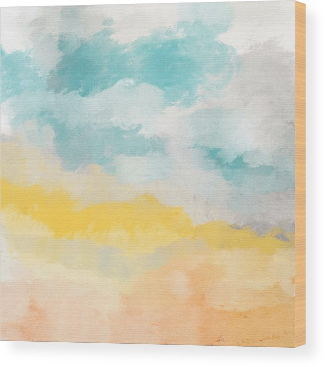 Landscape Wood Print featuring the mixed media Sunshine Day- Art by Linda Woods by Linda Woods