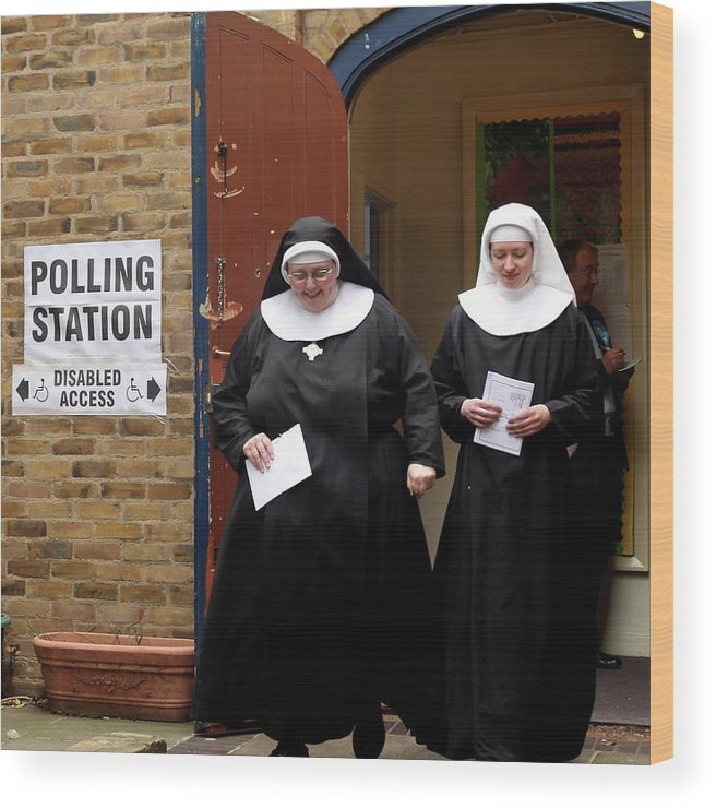 Event Wood Print featuring the photograph The 2010 General Election - The British by Dan Kitwood