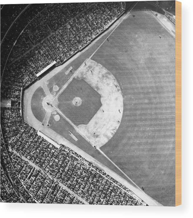 American League Baseball Wood Print featuring the photograph The Fans, Who Over The Years Have Come by New York Daily News Archive