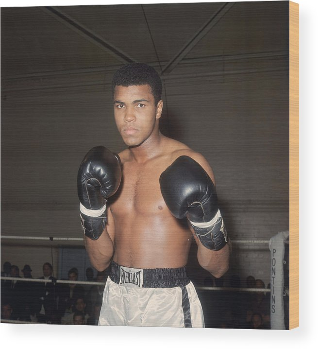 Muhammad Ali - Boxer - Born 1942 Wood Print featuring the photograph The Greatest by Trevor Humphries