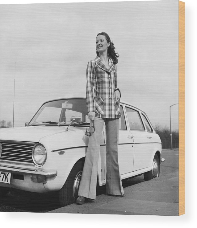 Fashion Model Wood Print featuring the photograph Want A Lift by Chaloner Woods