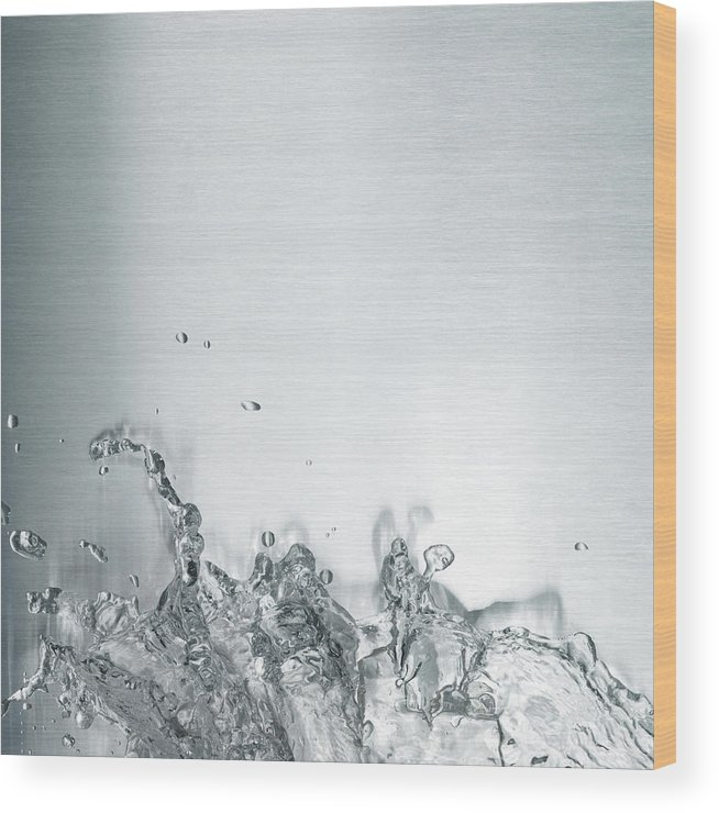 Underwater Wood Print featuring the photograph Water Splash by Plainview