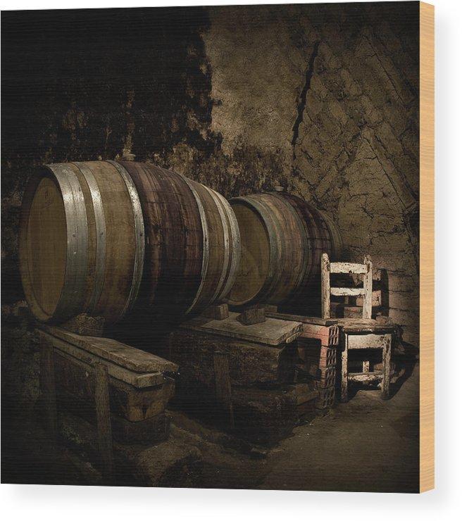 Fermenting Wood Print featuring the photograph Wine Cellar by Fotografias De Rodolfo Velasco