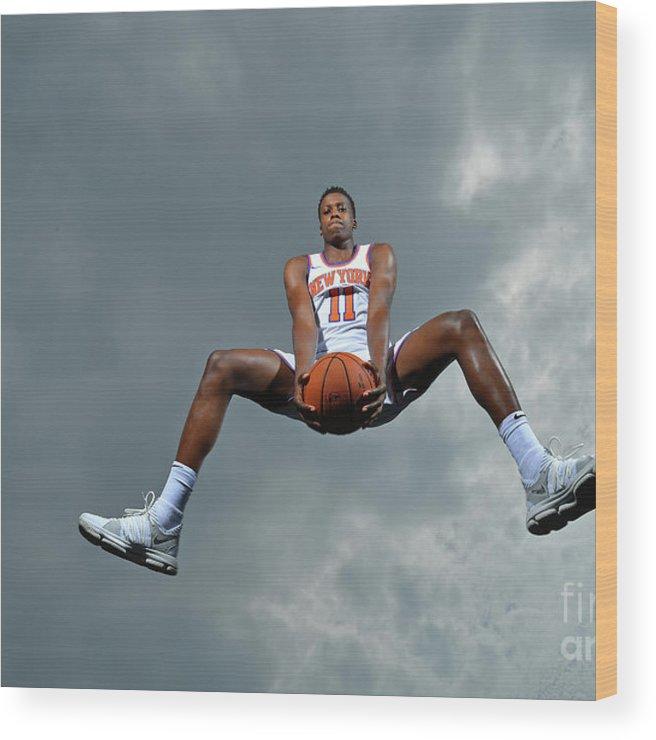 Nba Pro Basketball Wood Print featuring the photograph Frank Ntilikina by Jesse D. Garrabrant