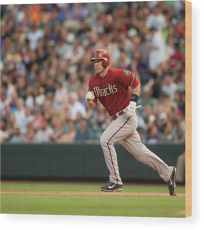 National League Baseball Wood Print featuring the photograph Paul Goldschmidt by Dustin Bradford