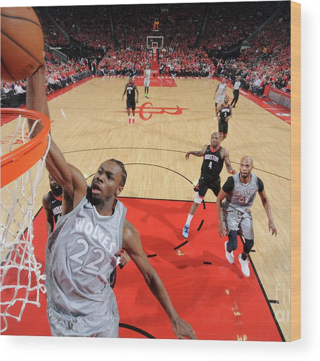 Playoffs Wood Print featuring the photograph Andrew Wiggins by Bill Baptist