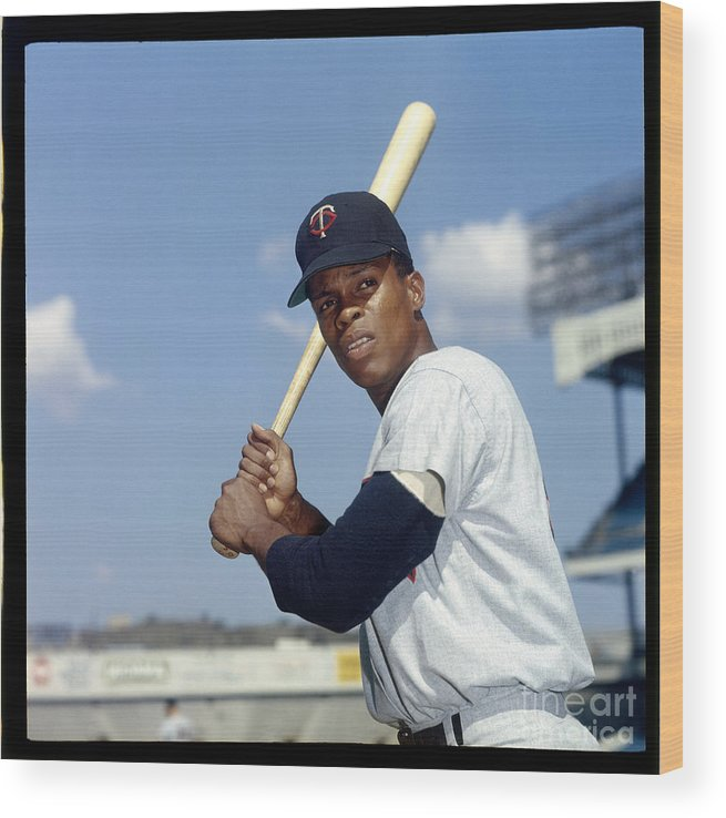 American League Baseball Wood Print featuring the photograph Rod Carew by Louis Requena
