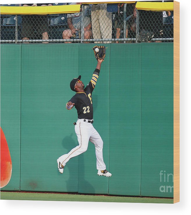 Second Inning Wood Print featuring the photograph Andrew Mccutchen by Justin K. Aller