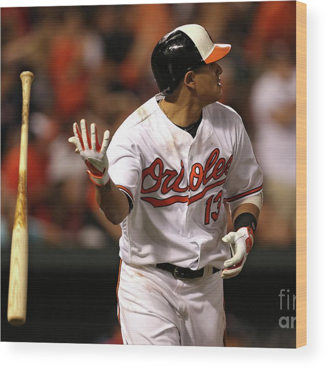Three Quarter Length Wood Print featuring the photograph Manny Machado by Patrick Smith