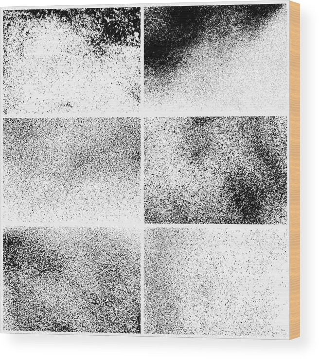 Rectangle Wood Print featuring the drawing Grunge backgrounds by Ulimi