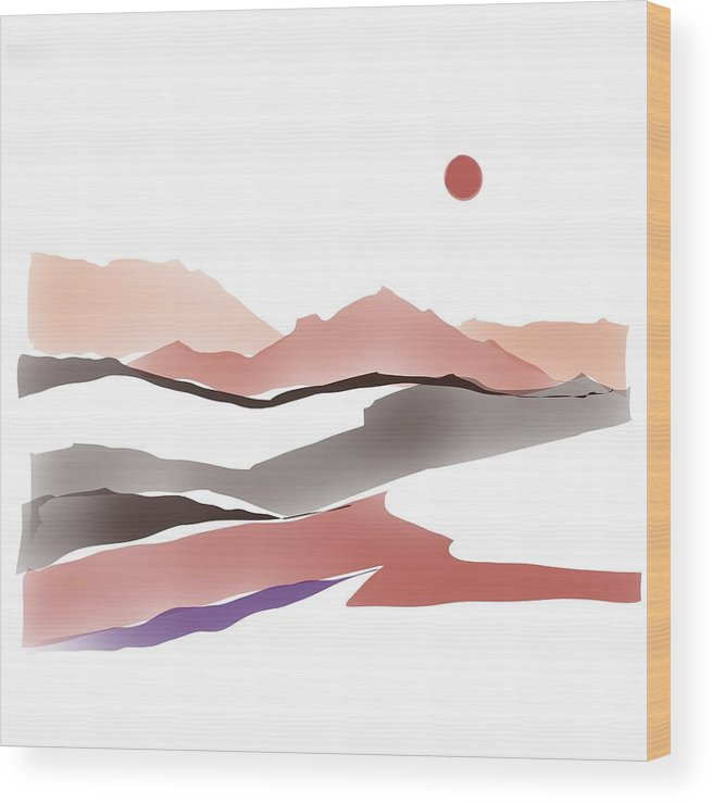 Southwestern Wood Print featuring the painting Abstract Rocks by Luisa Millicent