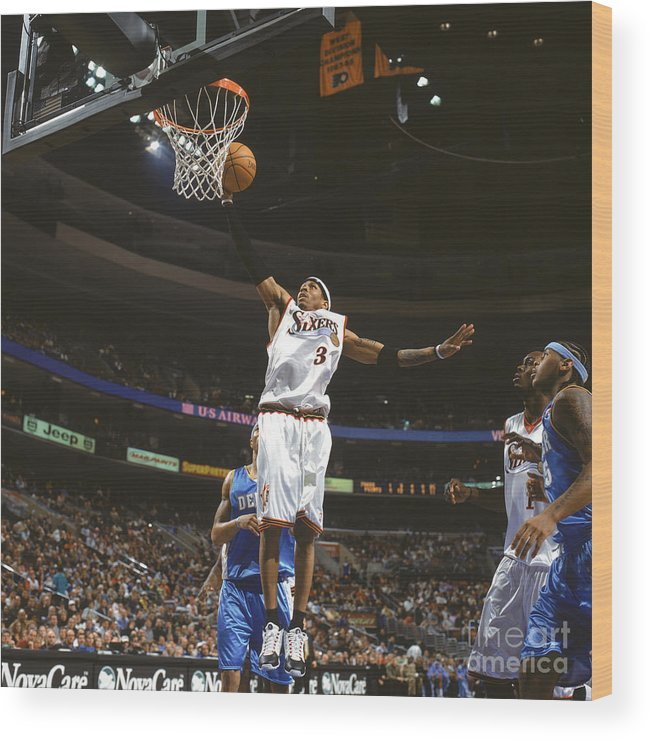 Nba Pro Basketball Wood Print featuring the photograph Allen Iverson by Nathaniel S. Butler