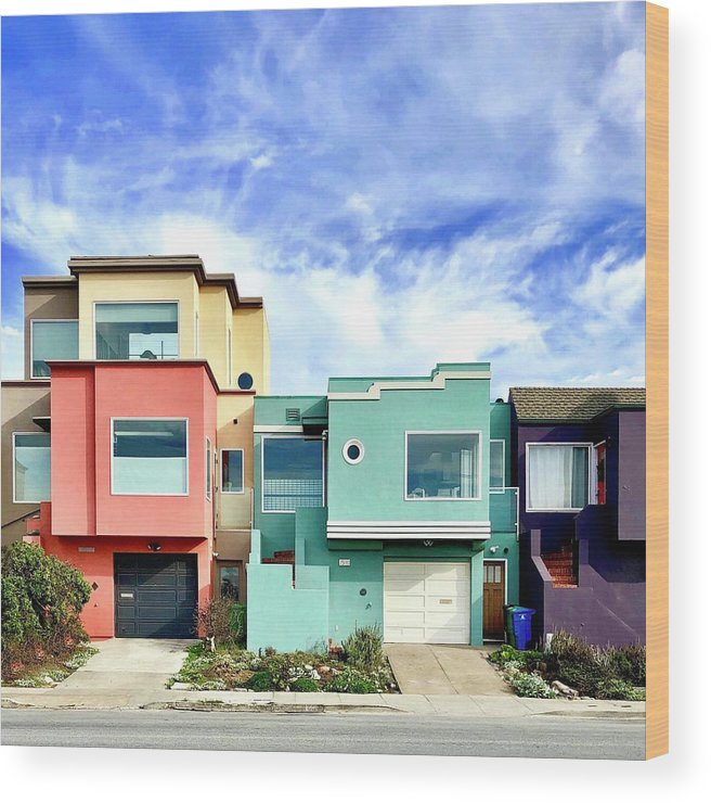 Wood Print featuring the photograph Beach Houses by Julie Gebhardt
