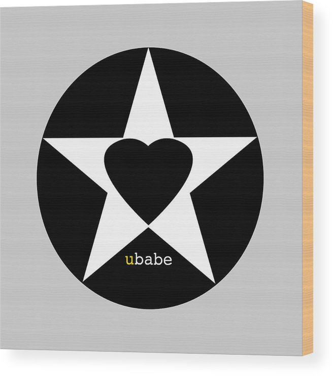 American Love Heart Wood Print featuring the painting Black love by Charles Stuart