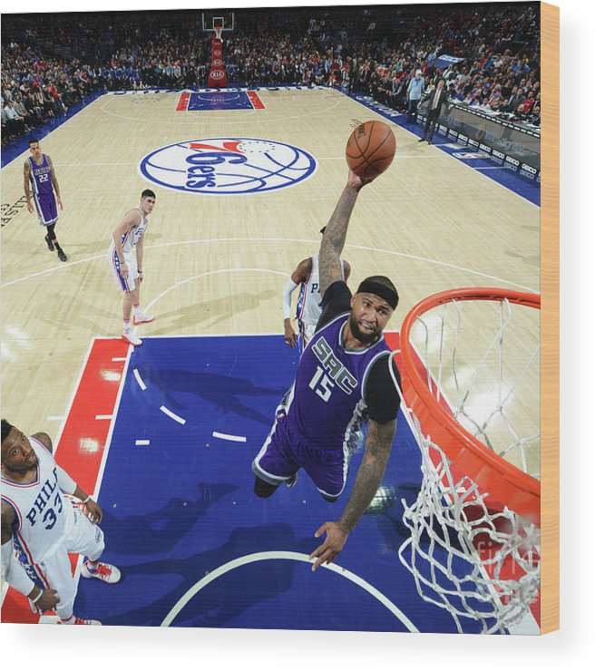 Nba Pro Basketball Wood Print featuring the photograph Demarcus Cousins by Jesse D. Garrabrant