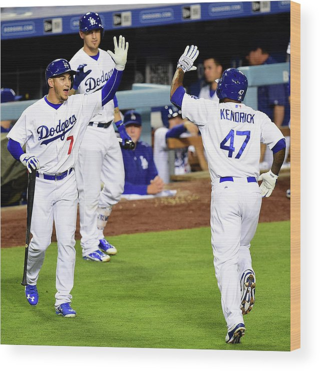 People Wood Print featuring the photograph Howie Kendrick by Harry How
