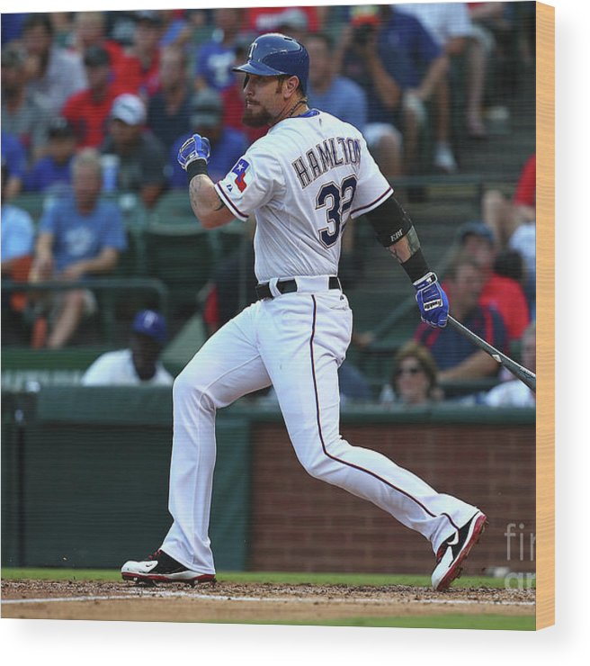 Second Inning Wood Print featuring the photograph Josh Hamilton by Sarah Crabill