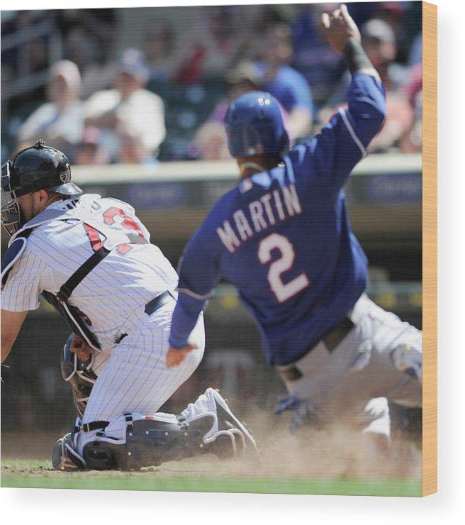 American League Baseball Wood Print featuring the photograph Josmil Pinto by Hannah Foslien