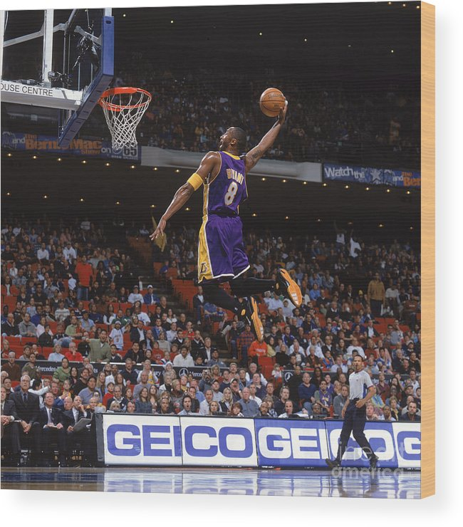 Nba Pro Basketball Wood Print featuring the photograph Kobe Bryant by Fernando Medina