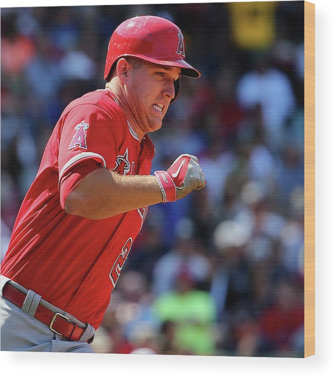 People Wood Print featuring the photograph Mike Trout by Maddie Meyer