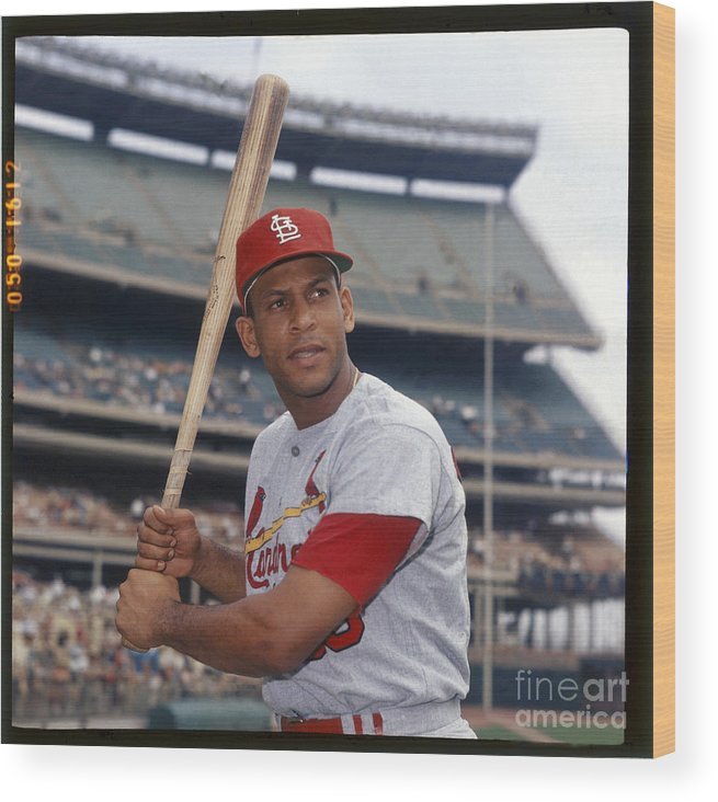 St. Louis Cardinals Wood Print featuring the photograph Orlando Cepeda by Louis Requena