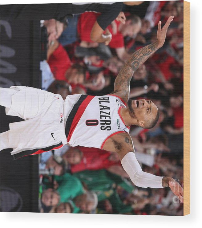 Playoffs Wood Print featuring the photograph Russell Westbrook by Sam Forencich