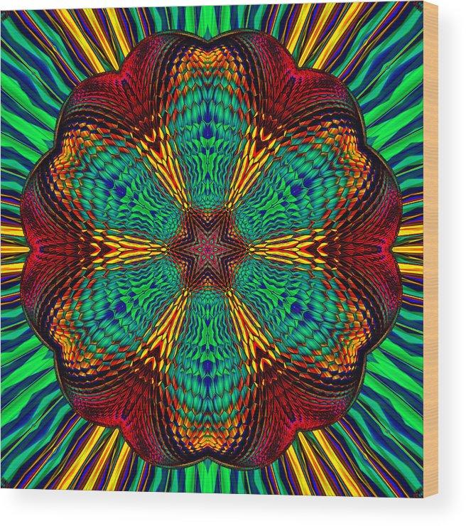 Wood Print featuring the digital art Tesla's Design by Steve Solomon