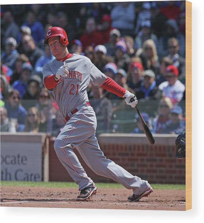 People Wood Print featuring the photograph Todd Frazier by Jonathan Daniel