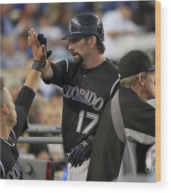 People Wood Print featuring the photograph Todd Helton by Jeff Gross