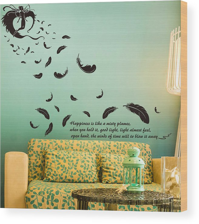 Wood Print featuring the digital art Wall art by Wild