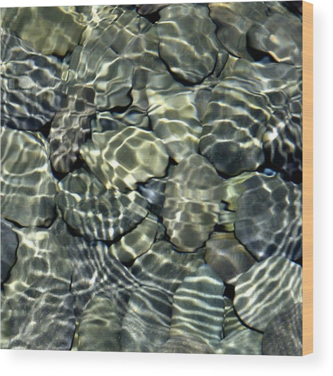 Water Wood Print featuring the photograph Water Rocks 2 by Andre Aleksis
