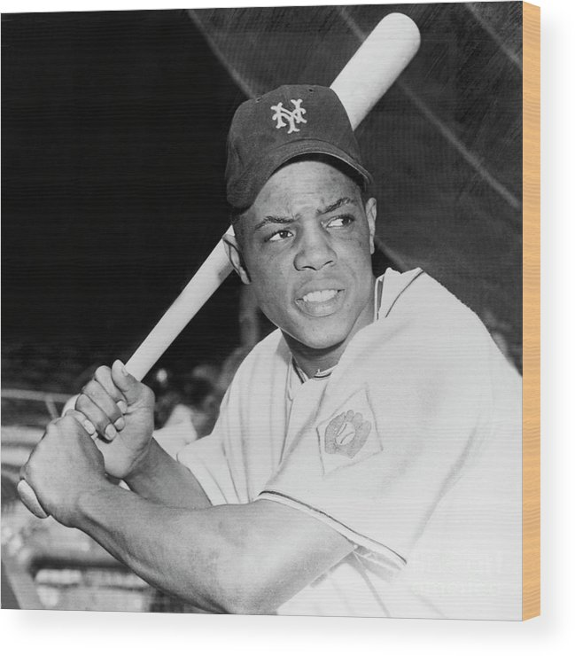 1950-1959 Wood Print featuring the photograph Willie Mays by National Baseball Hall Of Fame Library