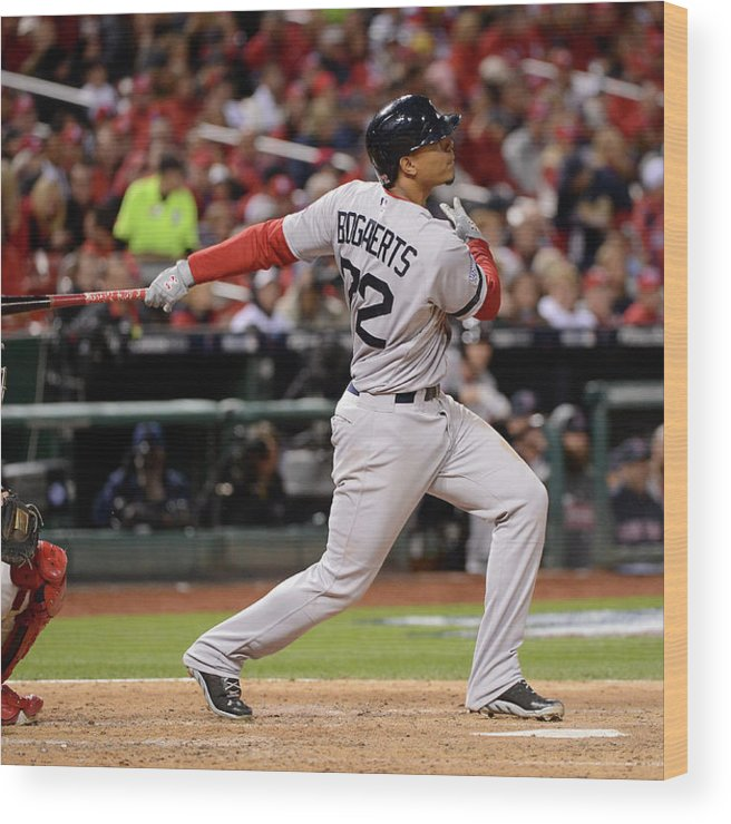 Playoffs Wood Print featuring the photograph Xander Bogaerts by Ron Vesely