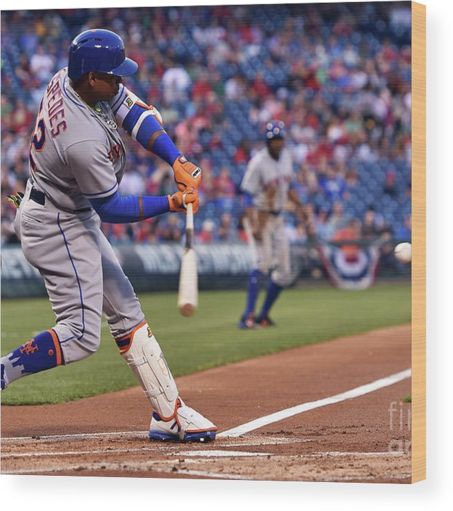 Yoenis Cespedes Wood Print featuring the photograph Yoenis Cespedes by Drew Hallowell