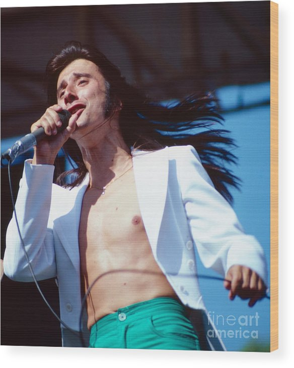 Concert Photos For Sale Wood Print featuring the photograph Steve Perry Of Journey At Day On The Green by Daniel Larsen