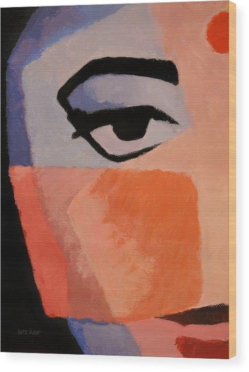Baar Wood Print featuring the painting The Eye by Lutz Baar