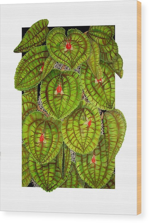 Orchid Wood Print featuring the painting Lepanthes Calodictyon by Darren James Sturrock