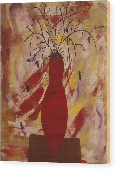 Expressions Wood Print featuring the painting Expression Series Number One by Ruth El
